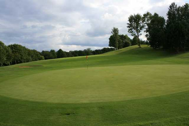 A view of the 12th green at Panshanger Golf Complex