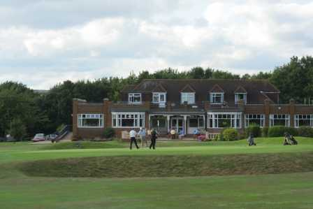 A view of the 18th hole and clubhouse in background at Verulam Golf Club