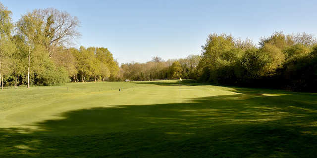 A view of hole #9 at West Herts Golf Club