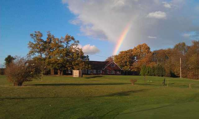 A view of the clubhouse at Whitehill Golf Club