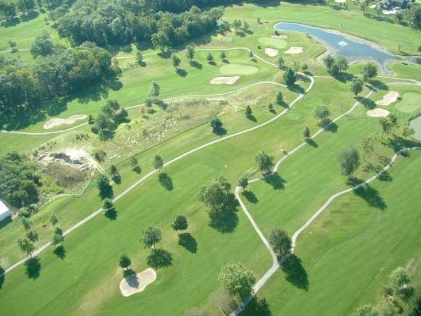Aerial view of the Hawk's Tail of Greenfield
