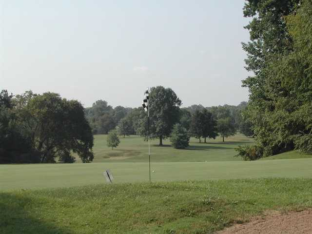 View of a green at Forest Park Golf Course