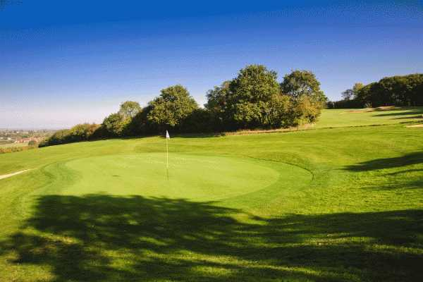 A view of the 3rd green at Chestfield Golf Club