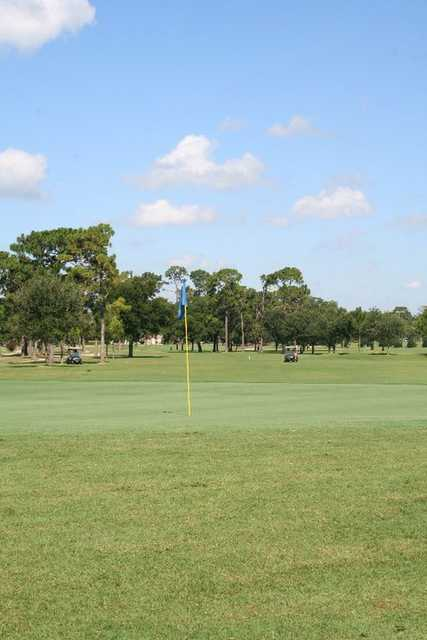 View of the 10th green from Pines course at Fort Walton Beach Golf Club