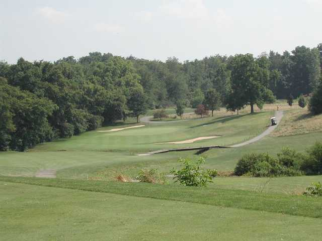 View of a green from the East course at Fox Prairie Golf Club