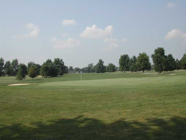 View of a green from the West course at Fox Prairie Golf Club
