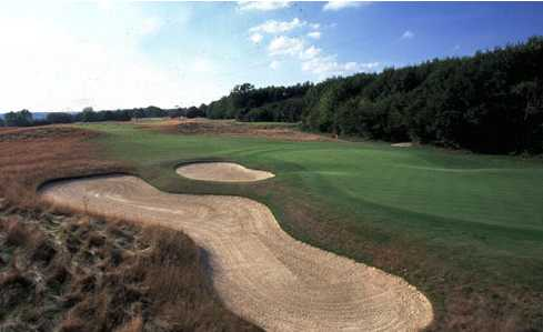 A view of the 15th green at Kings Hill Golf Club