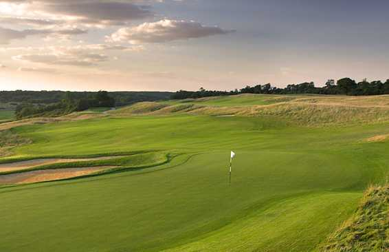 A view of the 15th green at International Course from London Golf Club