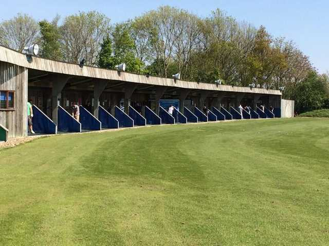 A view of the driving range at Manston Golf Club