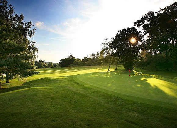 A sunny view of a green at Marriott Tudor Park Country Club