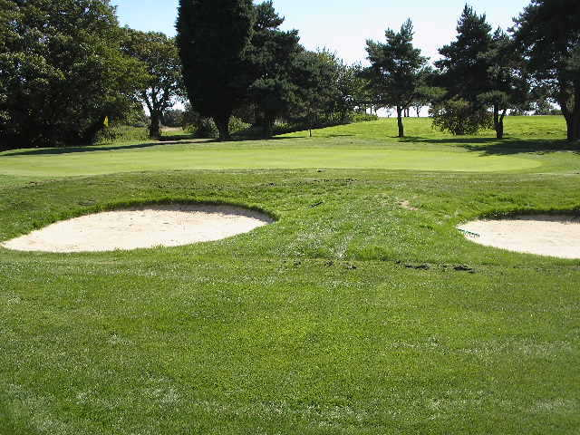 A view of the 2nd hole at Sene Valley Golf Club