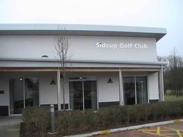 A view of the clubhouse at Sidcup Golf Club