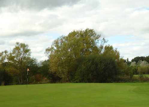 A view of the 1st hole at Kent & Surrey Golf & Country Club