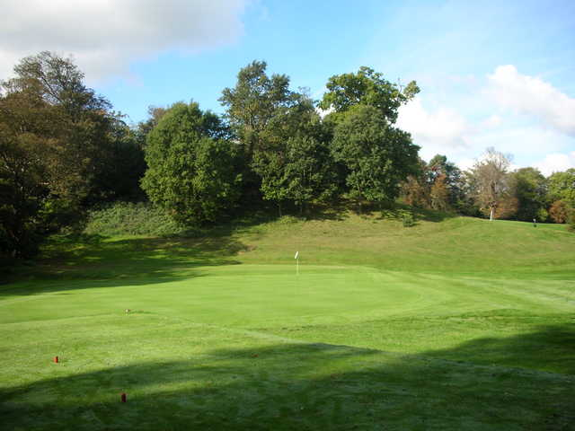 A sunny view of a green at Tunbridge Wells Golf Club