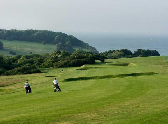 A view of fairway #16 at Walmer & Kingsdown Golf Club