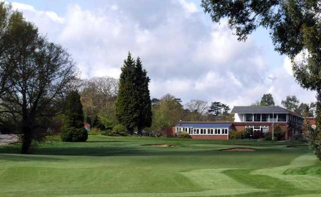 A view of fairway #18 and clubhouse in background at Hurricane Course from West Malling Golf Club