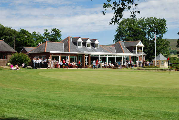 A view of the clubhouse at Clitheroe Golf Club