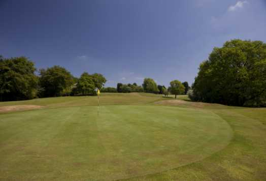 A view of a green at Gathurst Golf Club