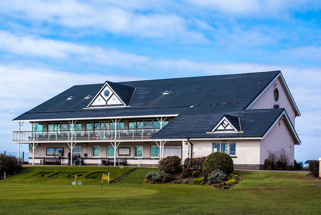 A view of the clubhouse at Knott End Golf Club