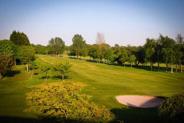A view of fairway #2 at Leyland Golf Club