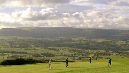 A view of a green at Longridge Golf Club