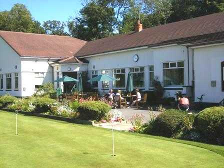 A view of the clubhouse at Lytham Green Drive Golf Club