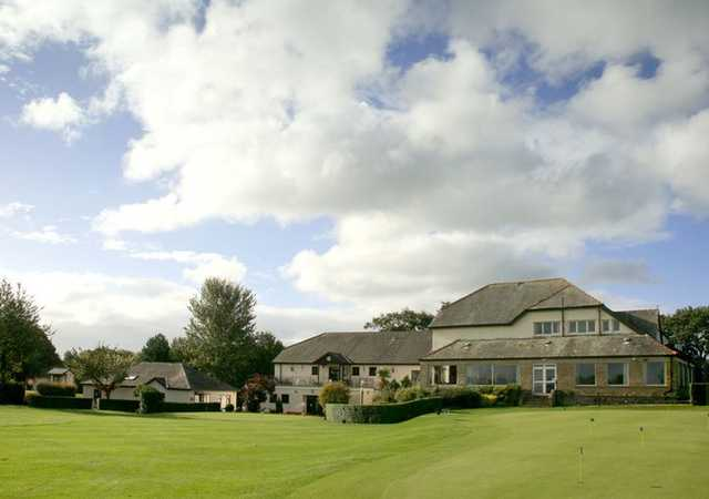 A view of the clubhouse at Morecambe Golf Club