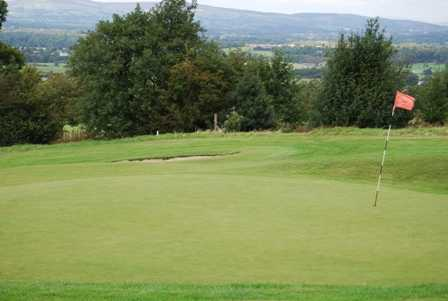 A view of the 10th green at Mytton Fold Golf Club