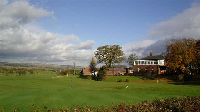 A view of a green at Pike Fold Golf Club