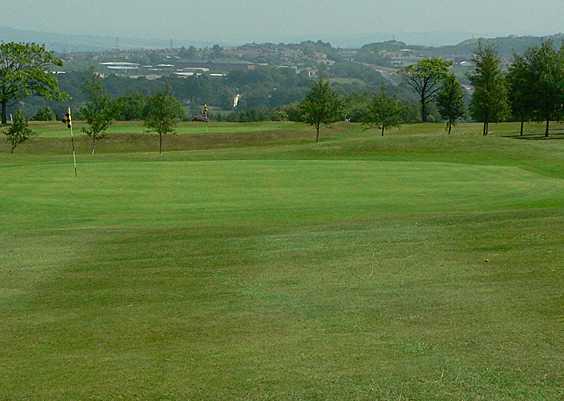 A view of green #4 at Rishton Golf Club