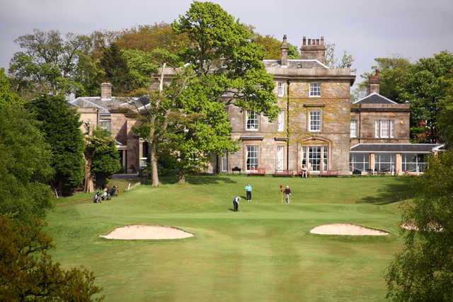 A view of a green at Shaw Hill Golf Club