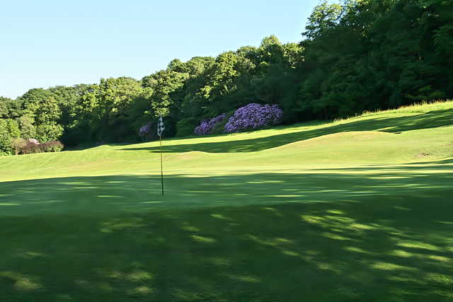 A view of green #17 at Towneley Golf Club