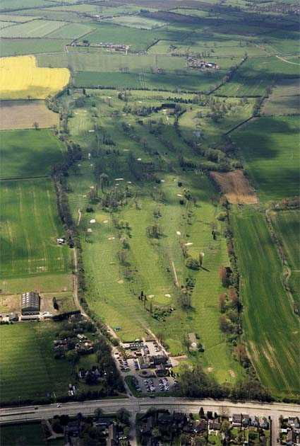 Aerial view of Glen Gorse Golf Club