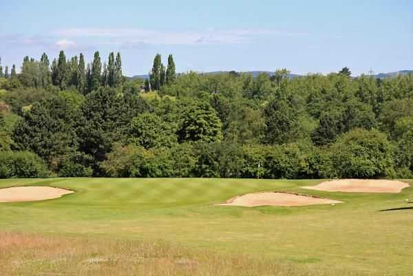 A view of the 2nd green at Kirby Muxloe Golf Club