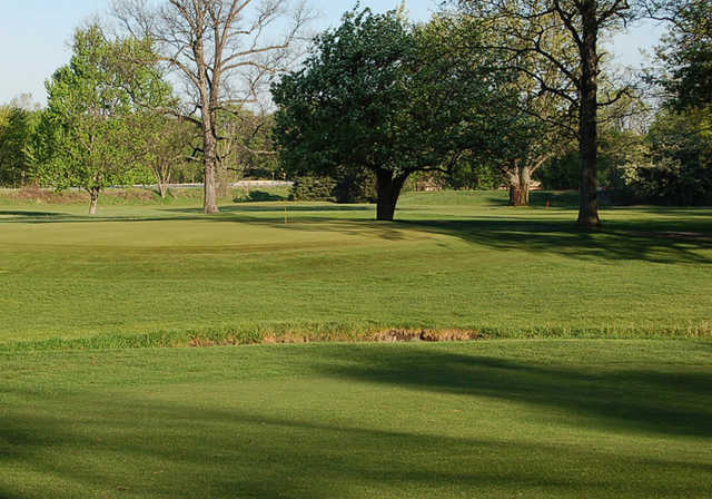 View of the 7th green at Green Acres Golf Course