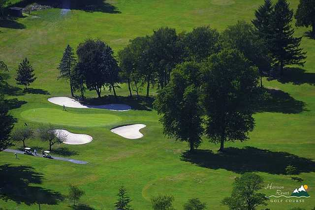 Aerial view from Harrison Resort Golf Course