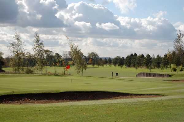 A view of green #16 at Melton Mowbray Golf Club