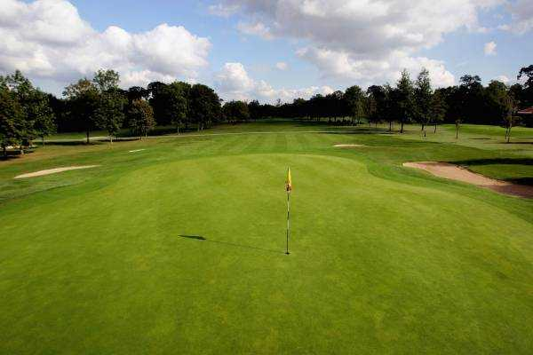 A view of the 3rd hole at Leicestershire Golf Club