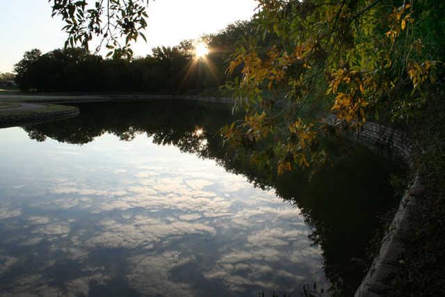 View of a pond at  Firewheel Golf Park
