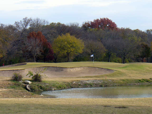 The 183-yard 11th on The Lakes Course at Firewheel is one of the prettiest holes on the layout.