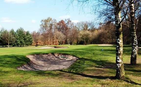 A view of a fairway at Ashby Decoy Golf Club