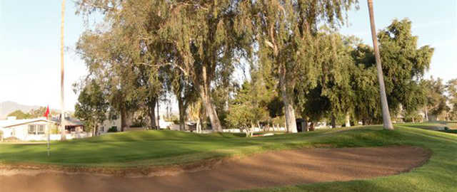 Bunker and green at Chaparral Country Club