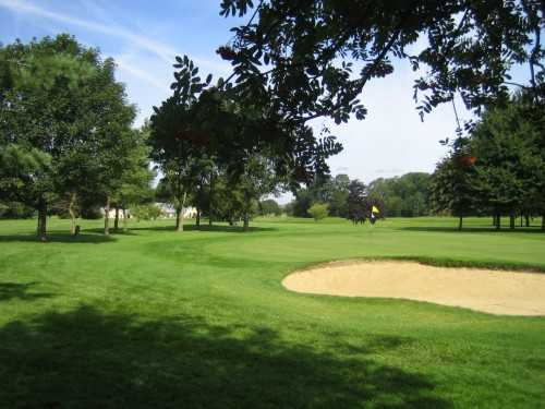 A view of green #9 at Burghley Park Golf Club