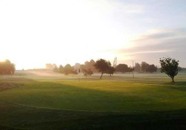 A morning view of a green at Cleethorpes Golf Club