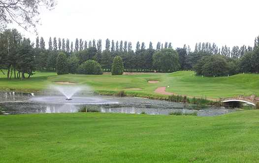 A view over a pond at Grimsby Golf Club