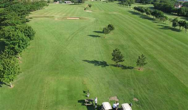 Aerial view of fairway #17 at North Shore Hotel & Golf Club