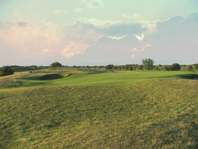 A view of the 10th green at Seacroft Golf Club
