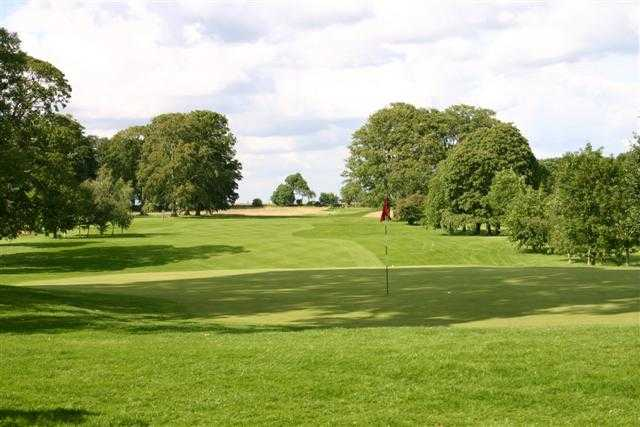 A view of the 10th green at Stoke Rochford Golf Club