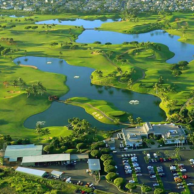 Aerial view of the Kapolei Golf Club