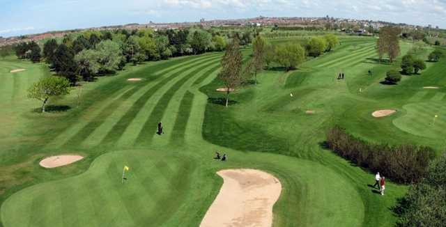 A view of the 5th hole at Bidston Golf Club